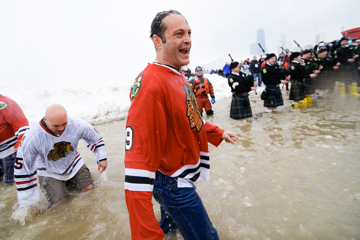 Vince Vaughn during the   2015 Special Olympics Polar Plunge at North Avenue Beach Chicago.