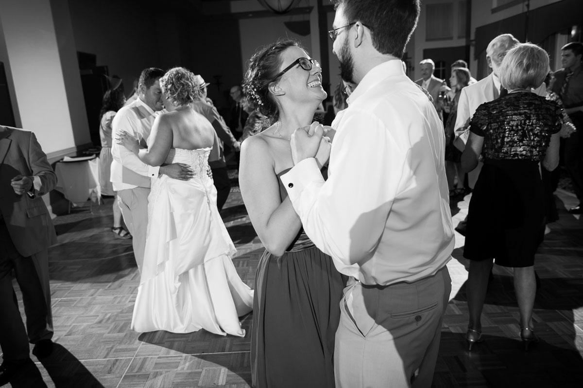 Wedding reception at Blue Harbor Resort in Sheboygan, Wisconsin.