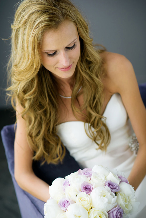 Bridal portrait at the Trump Tower Chicago.