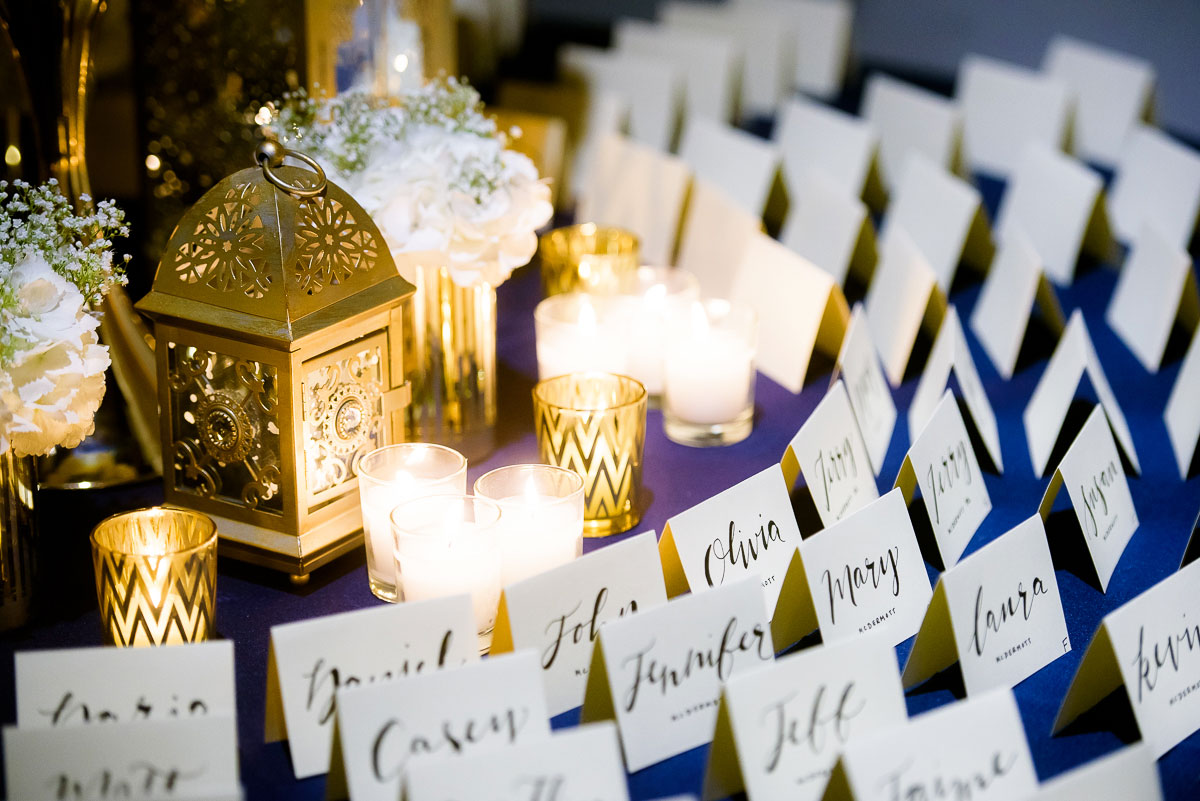Card table designed by Art of Imagination and coordinated by Chicago Vintage Weddings at the Bridgeport Art Center.