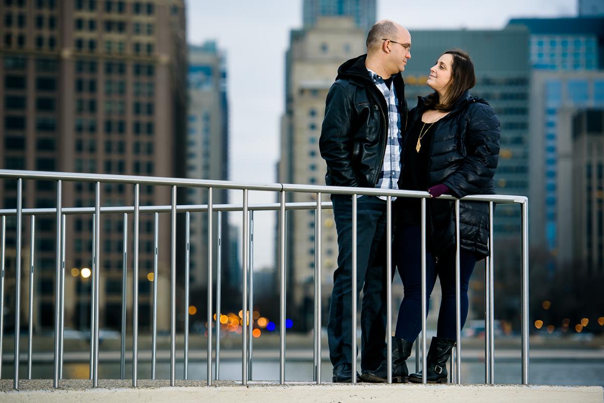 Chicago engagement session at Milton Olive Park.