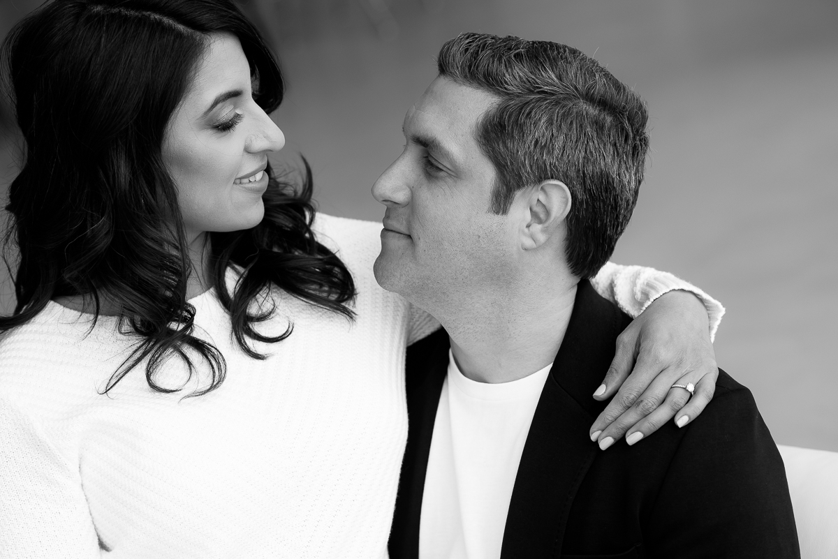 Chicago engagement session at Venue Six10.
