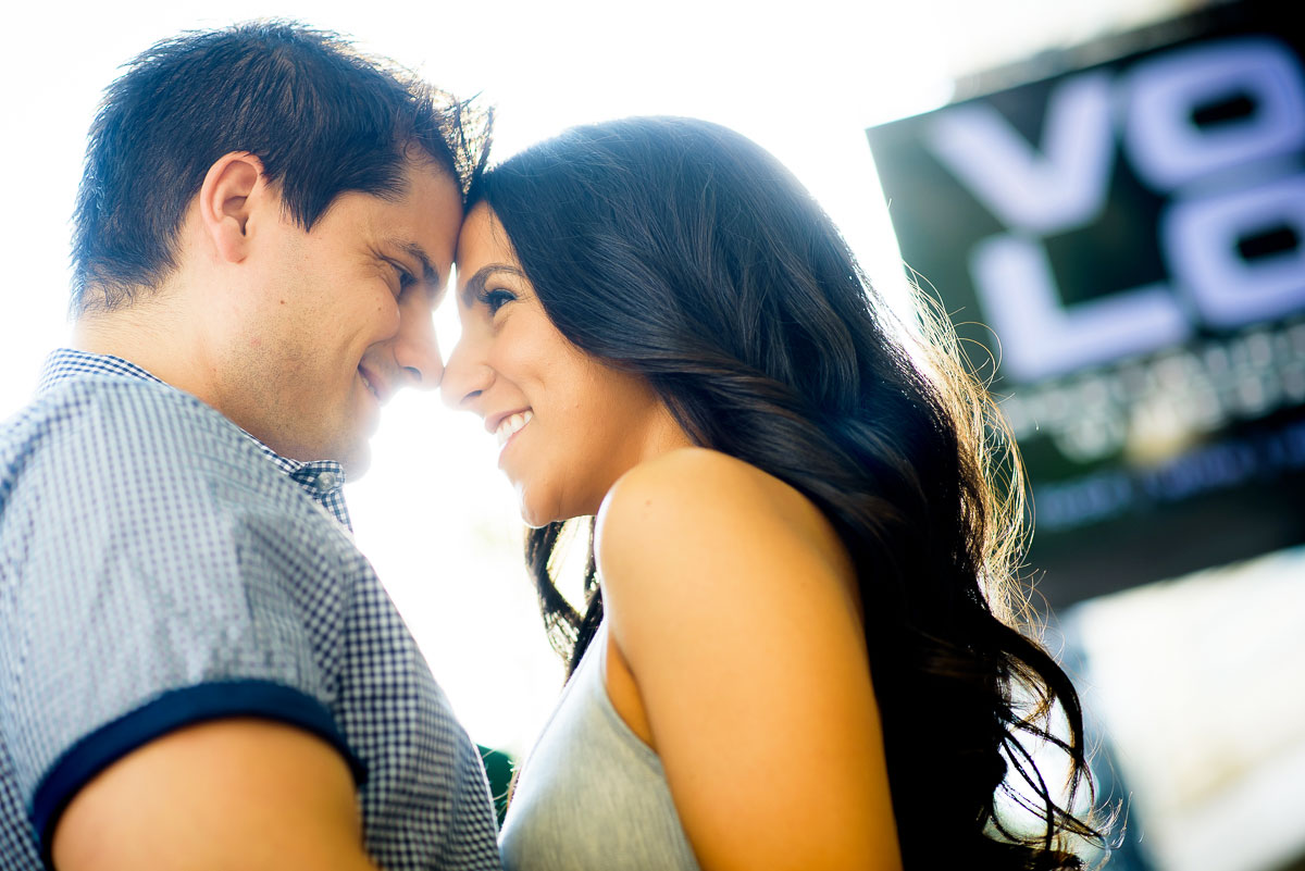 Roscoe Village engagement session at Volo in Chicago.