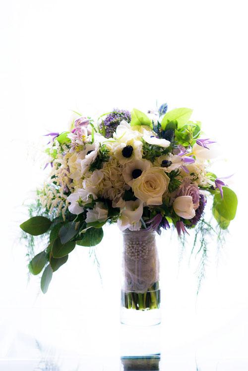 Stunning bouquet by Pistil & Vine during a Chicago wedding.