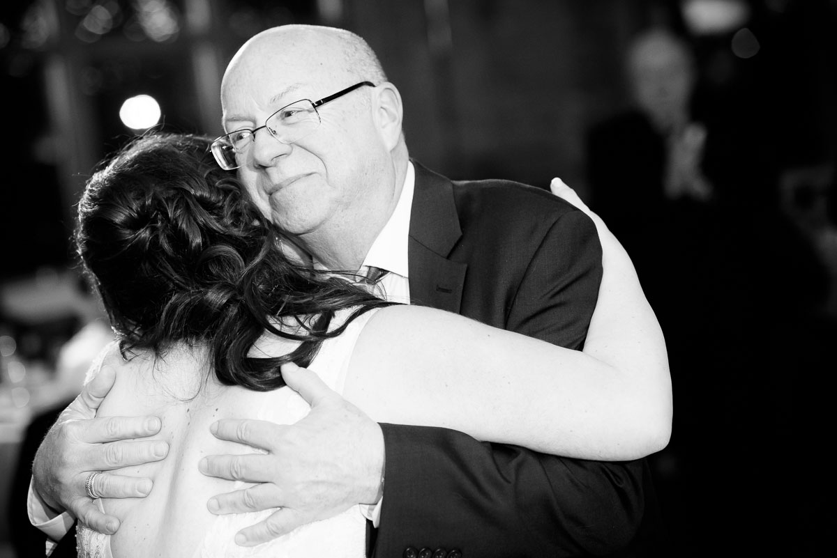 Father & daughter dance during her Kendall College Chicago wedding.