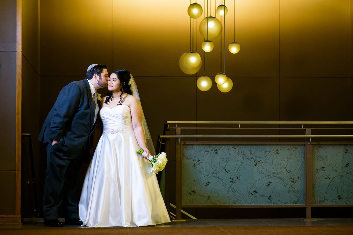 Creative bridal portrait at the DoubleTree Skokie.