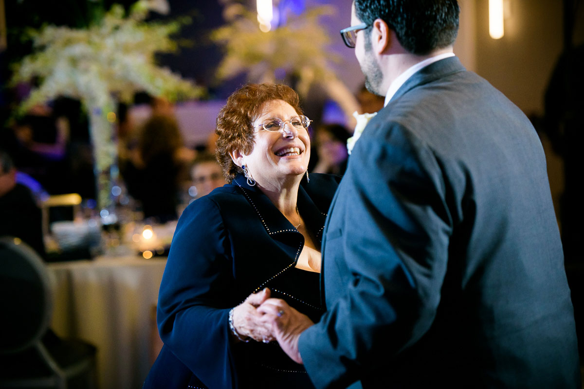 Mother-son dance during a wedding at the DoubleTree Skokie.