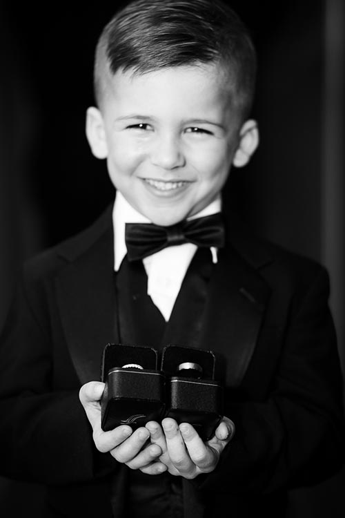 Ring bearer before the wedding at the Thompson Chicago.