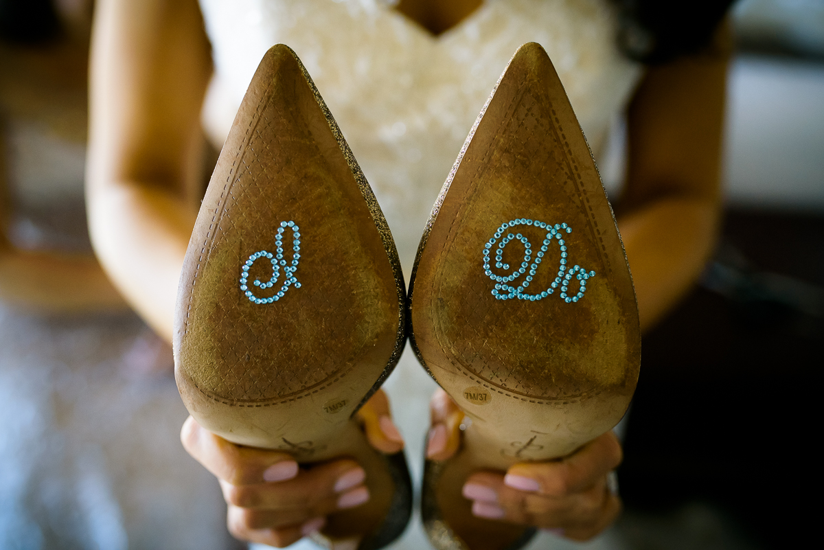 Bride's shoe decals for her Thompson Chicago wedding.