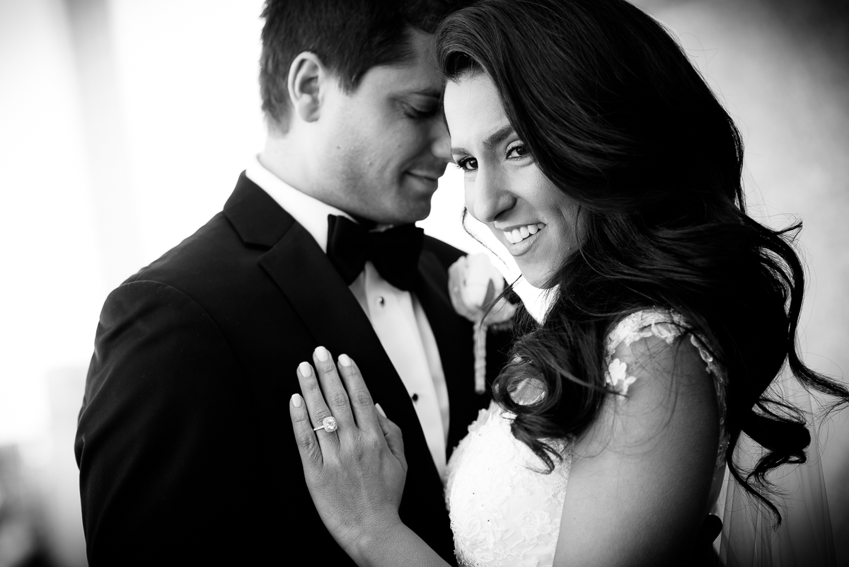Bride and groom wedding portrait at the Thompson Chicago.