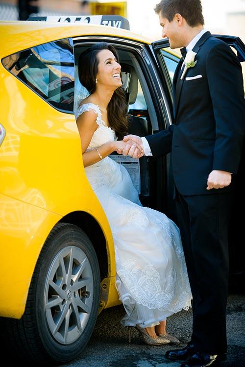 Creative wedding portrait near Mariano Park in the Gold Coast Chicago.