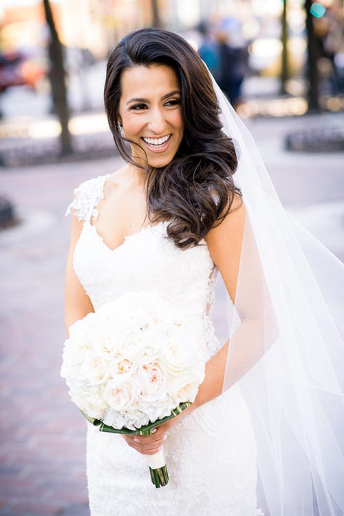 Fine art bridal portrait at Mariano Park in the Gold Coast Chicago.