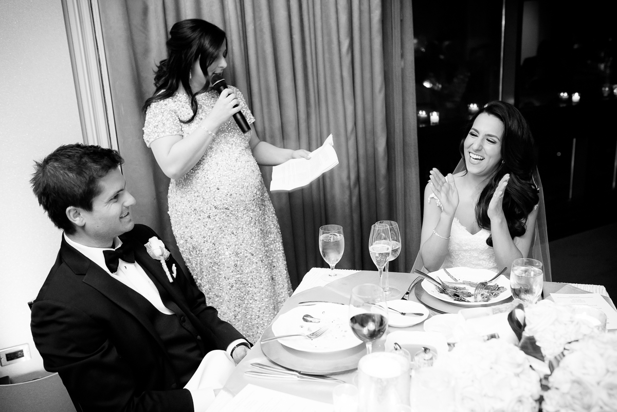 Maid-of-honor speech at a Thompson Chicago wedding.