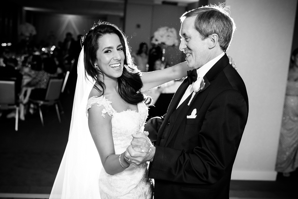 Father-daughter dance at a Thompson Chicago wedding.