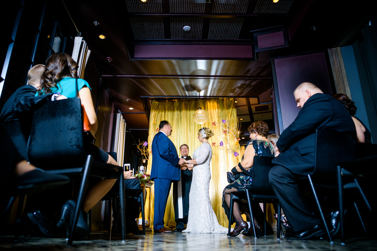 New Year's Eve wedding ceremony at the Thompson Chicago.