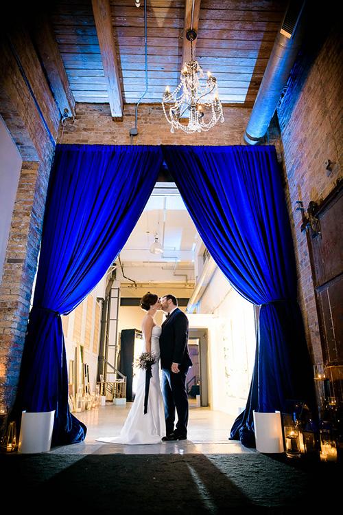 Creative wedding portrait at Moonlight Studios Chicago.
