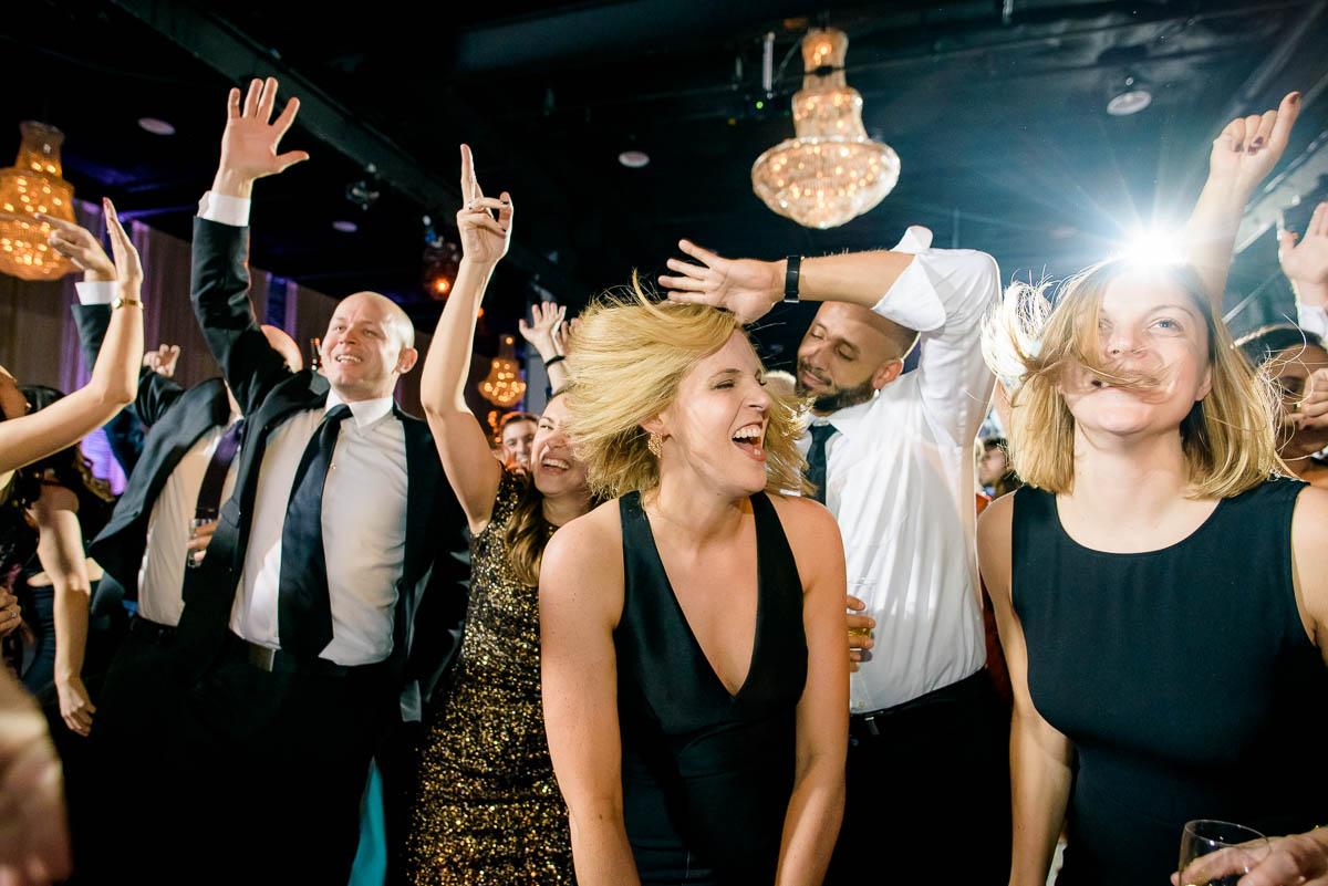 Moonlight Studios Chicago wedding reception dancing.