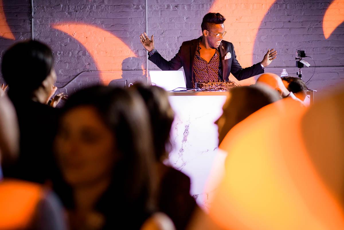DJ Timothee Lovelock at a Moonlight Studios Chicago wedding reception.
