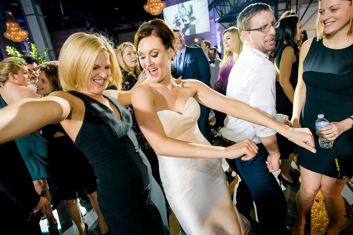 Wedding reception dancing at Moonlight Studios Chicago.