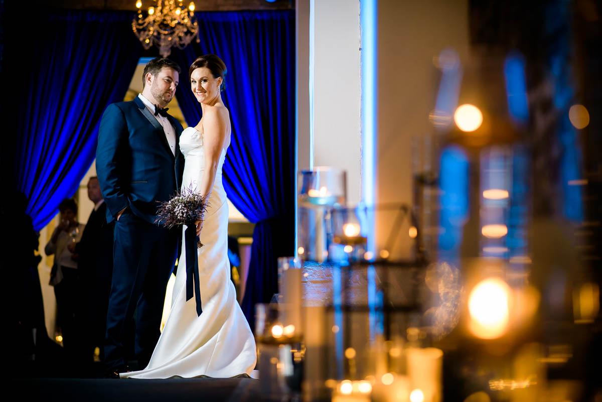 Creative wedding photo at Moonlight Studios Chicago.