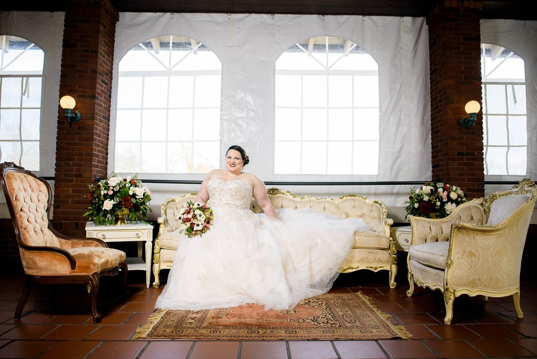 Bridal portrait at Cafe Brauer wedding Chicago.