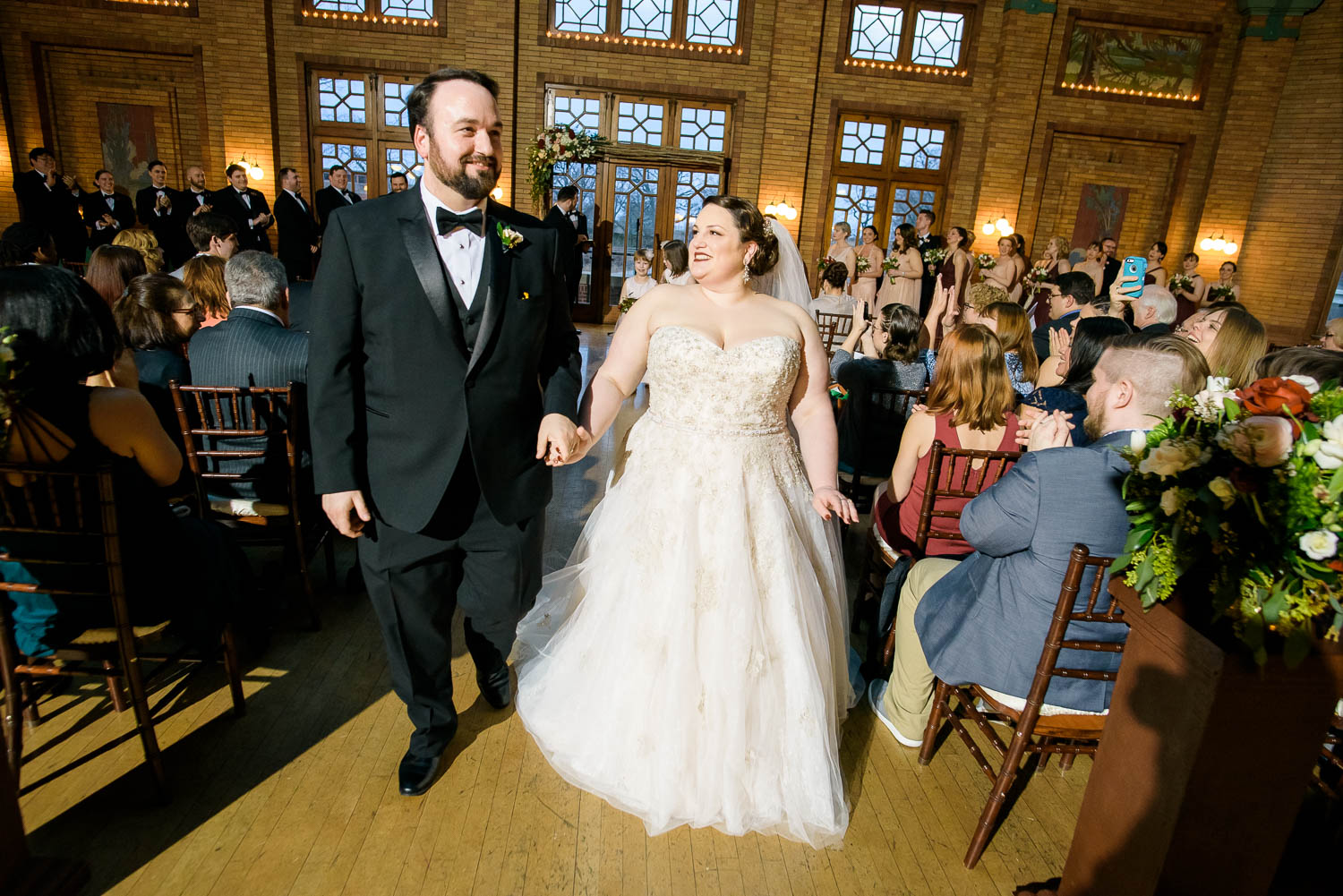 Wedding ceremony at Cafe Brauer Chicago.