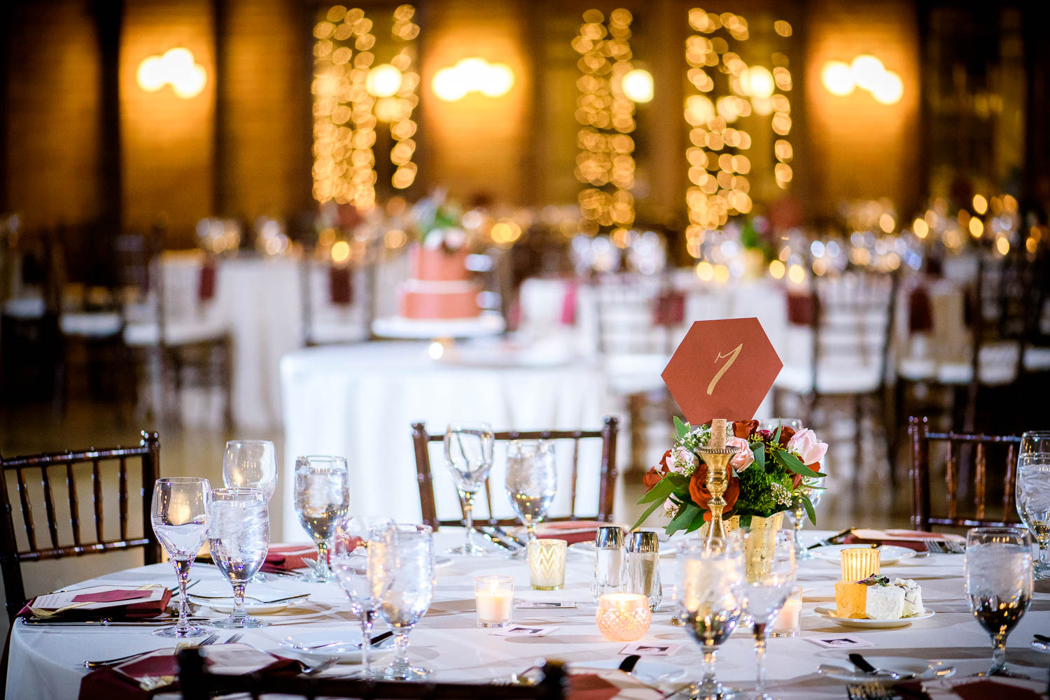 Reception detail photo at a Cafe Brauer wedding Chicago.