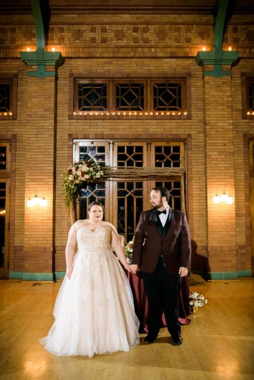 Bride & groom first dance during their Cafe Brauer wedding reception Chicago.