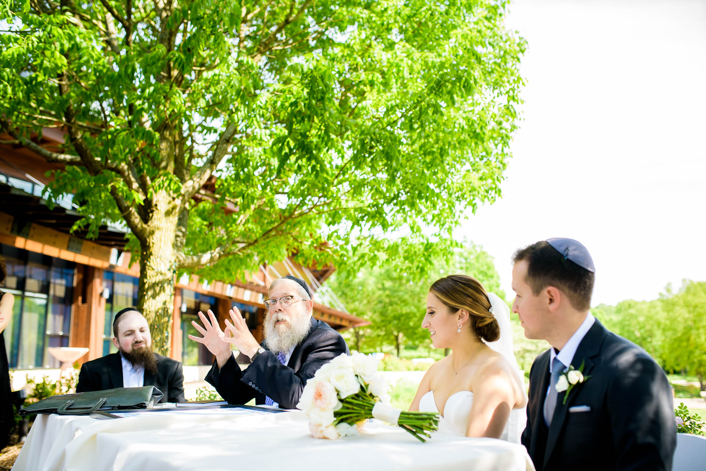 Ketubah signing at Independence Grove in Libertyville.