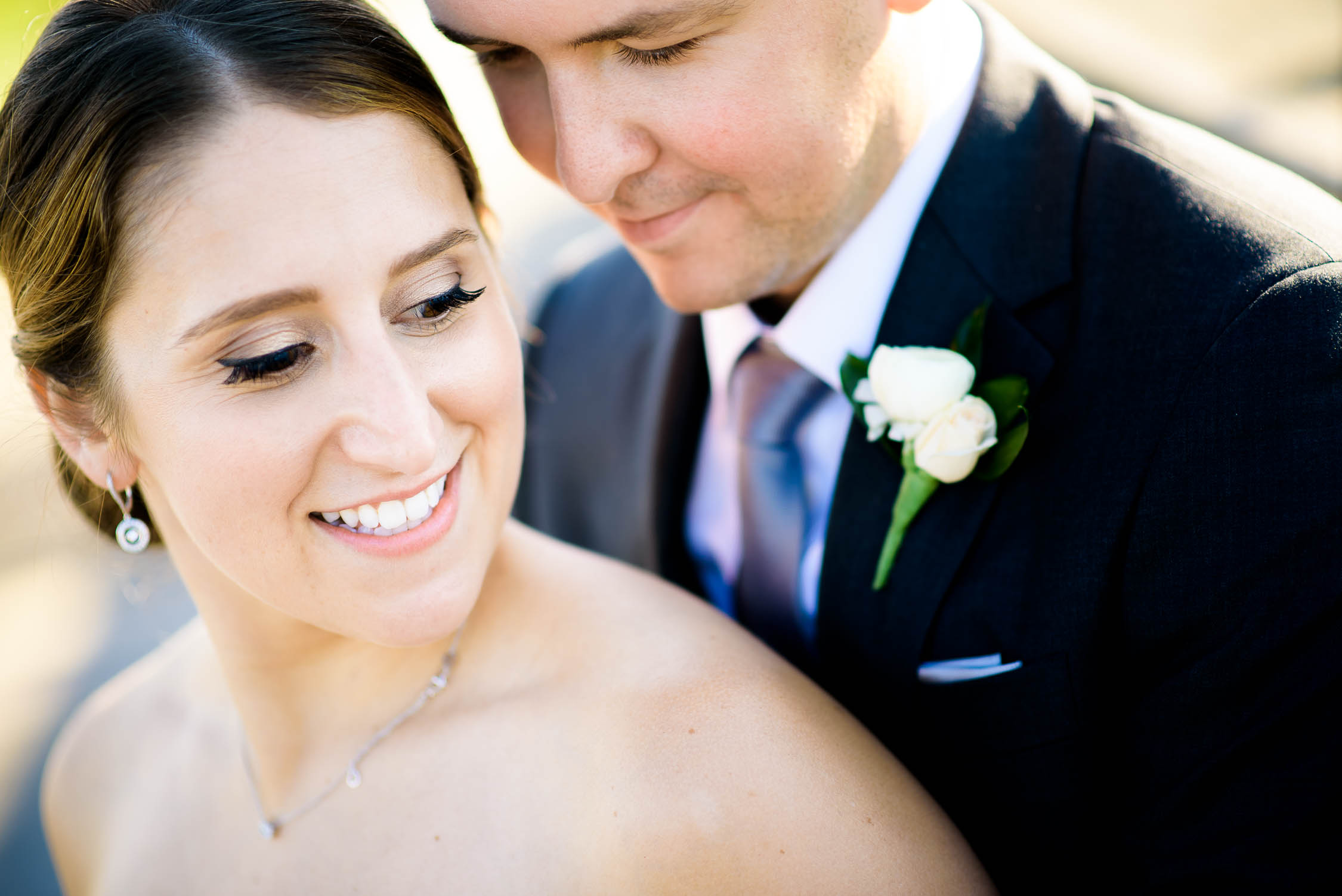Wedding day portrait at Independence Grove in Libertyville.