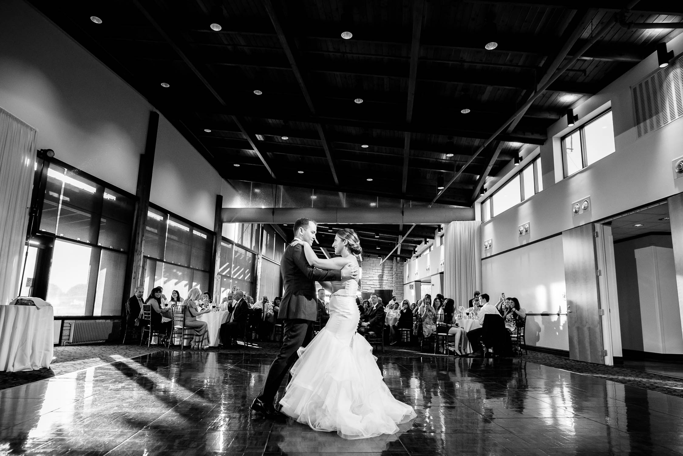 First dance during a wedding at Independence Grove in Libertyville.