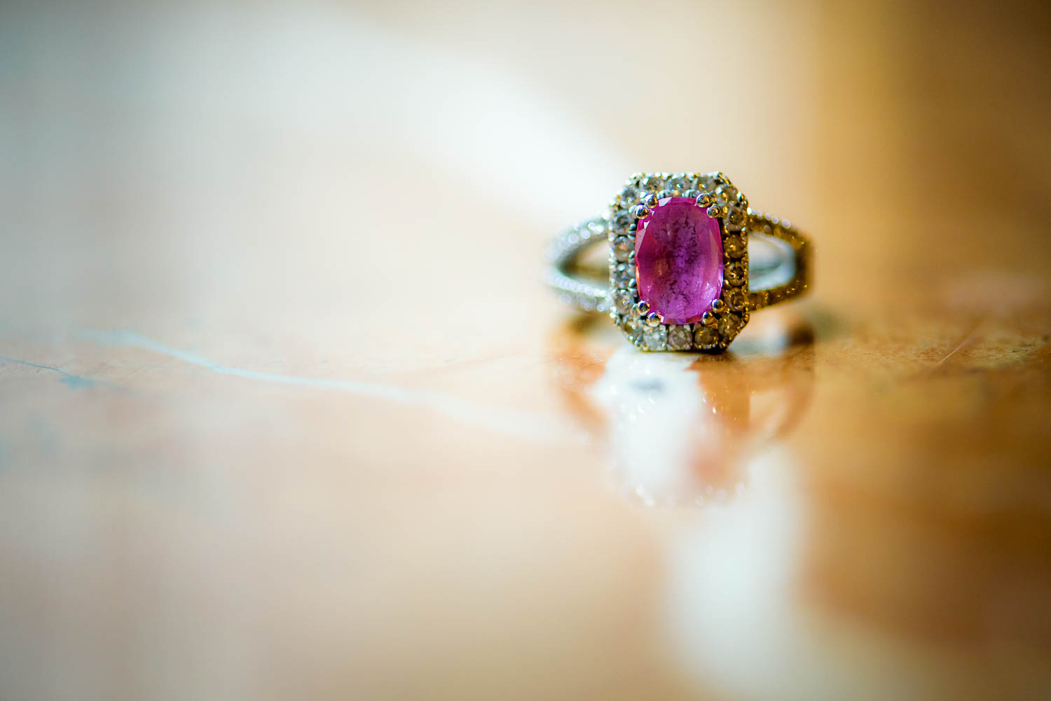 Ring detail photo at a University Club of Chicago wedding.
