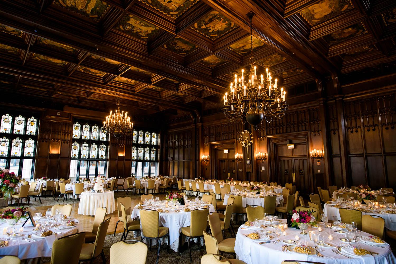 Michigan Room wedding reception at the University Club of Chicago.
