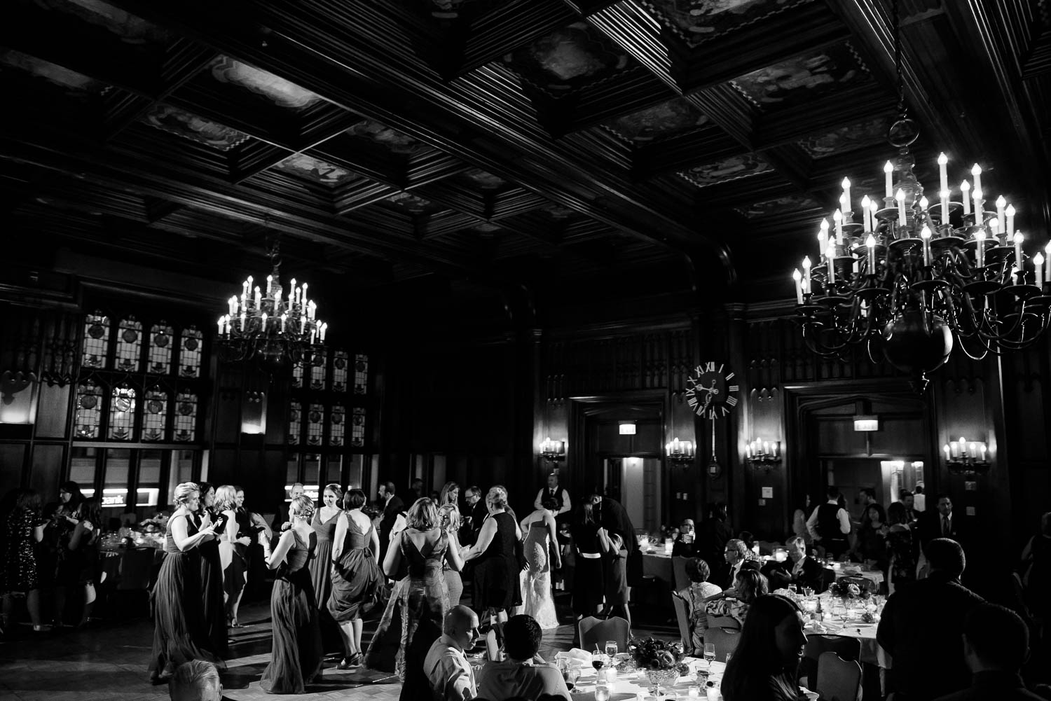 Michigan room reception during a University Club of Chicago wedding.