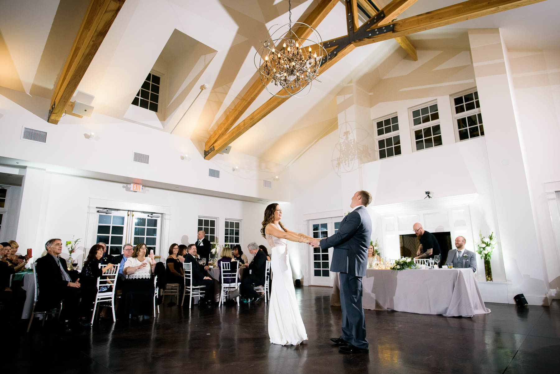 First dance during a wedding at the Manor House in Littleton, Colorado.
