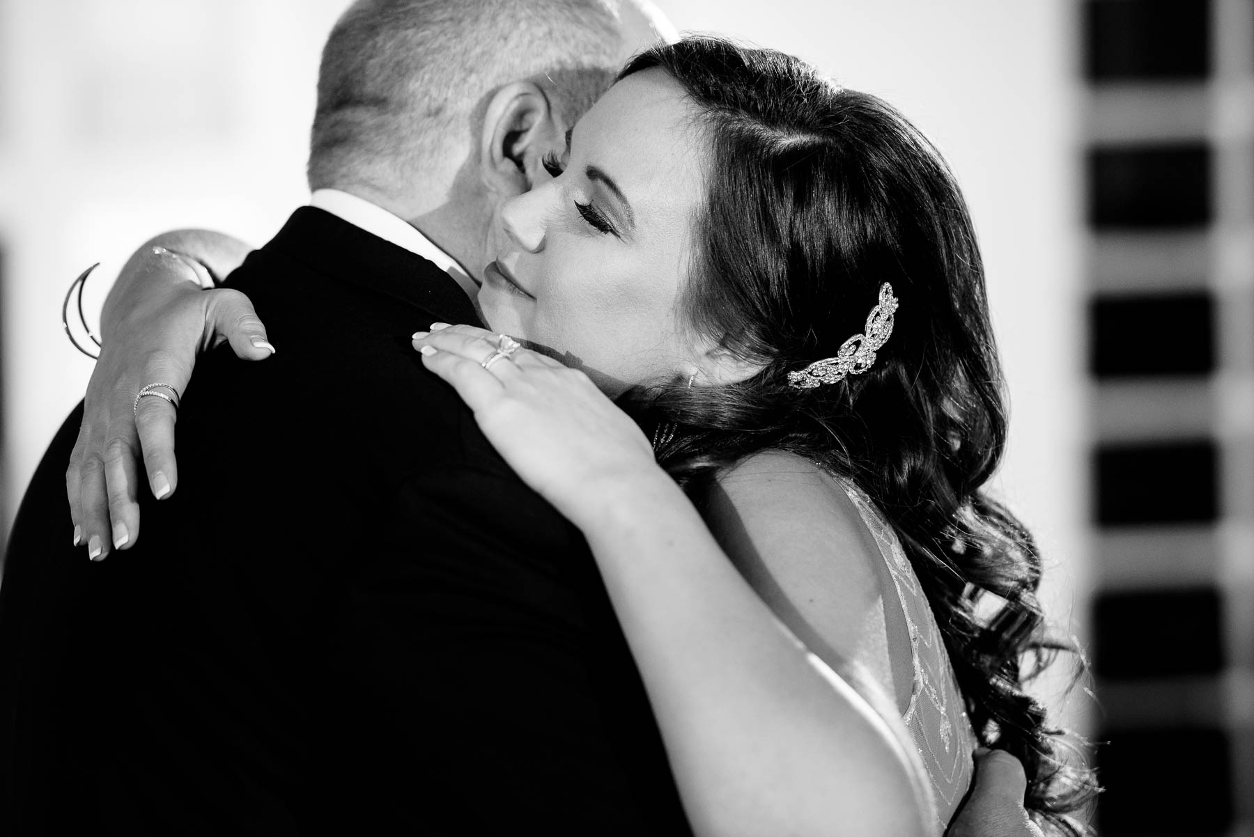 Father-daughter dance during a wedding at the Manor House in Littleton, Colorado.