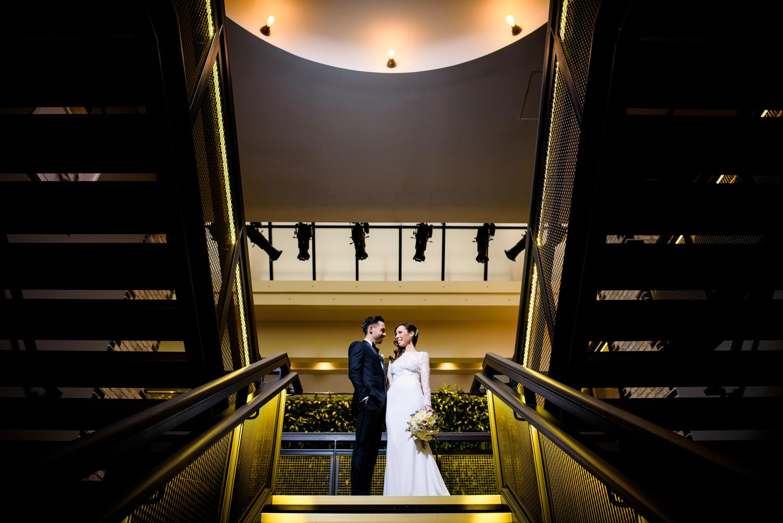 Creative wedding photo at the Thompson Chicago.