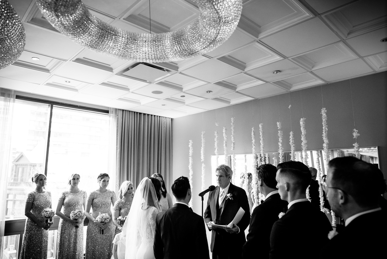 Thompson Chicago wedding ceremony.