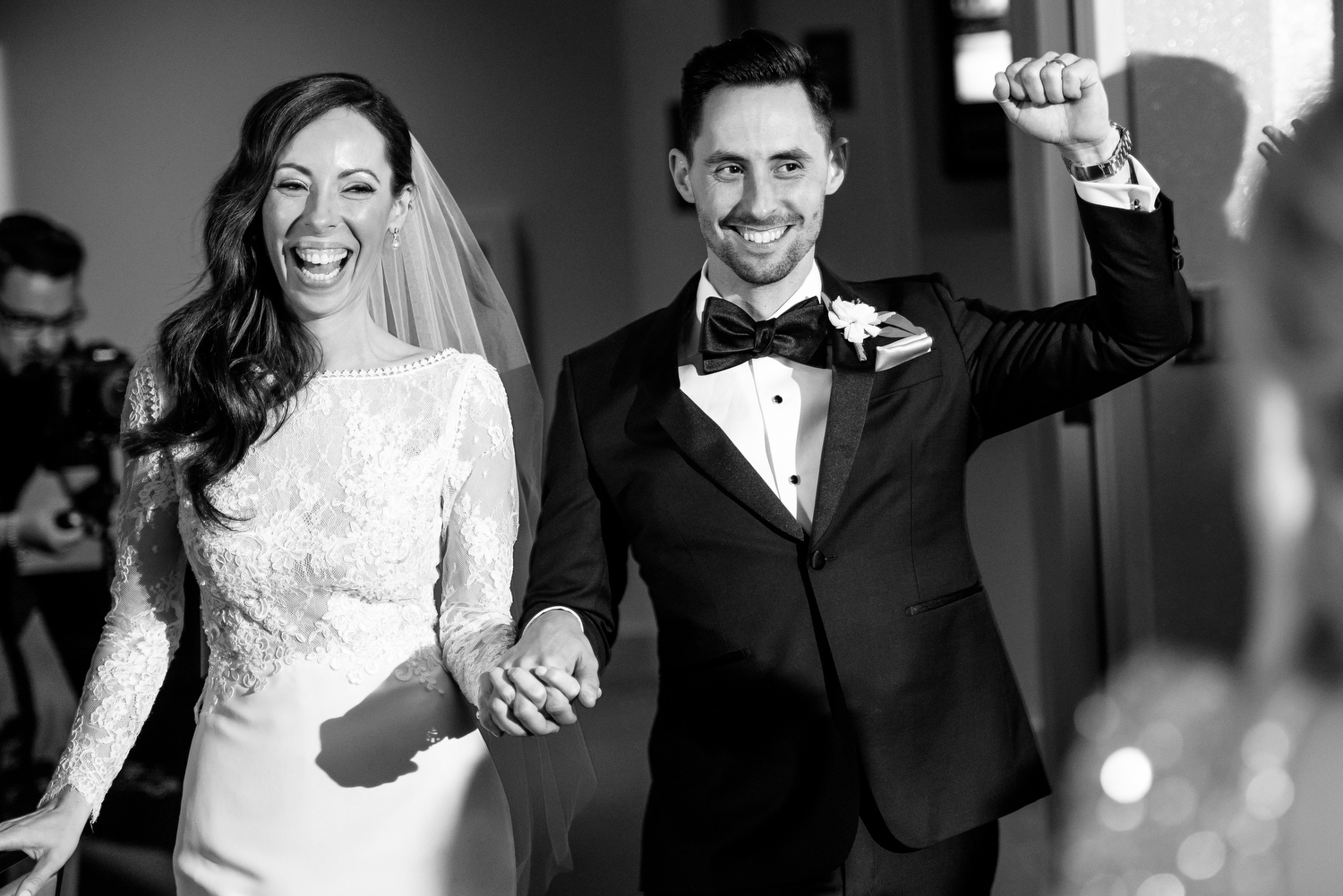 Couple is introduced during their Thompson Chicago wedding reception.