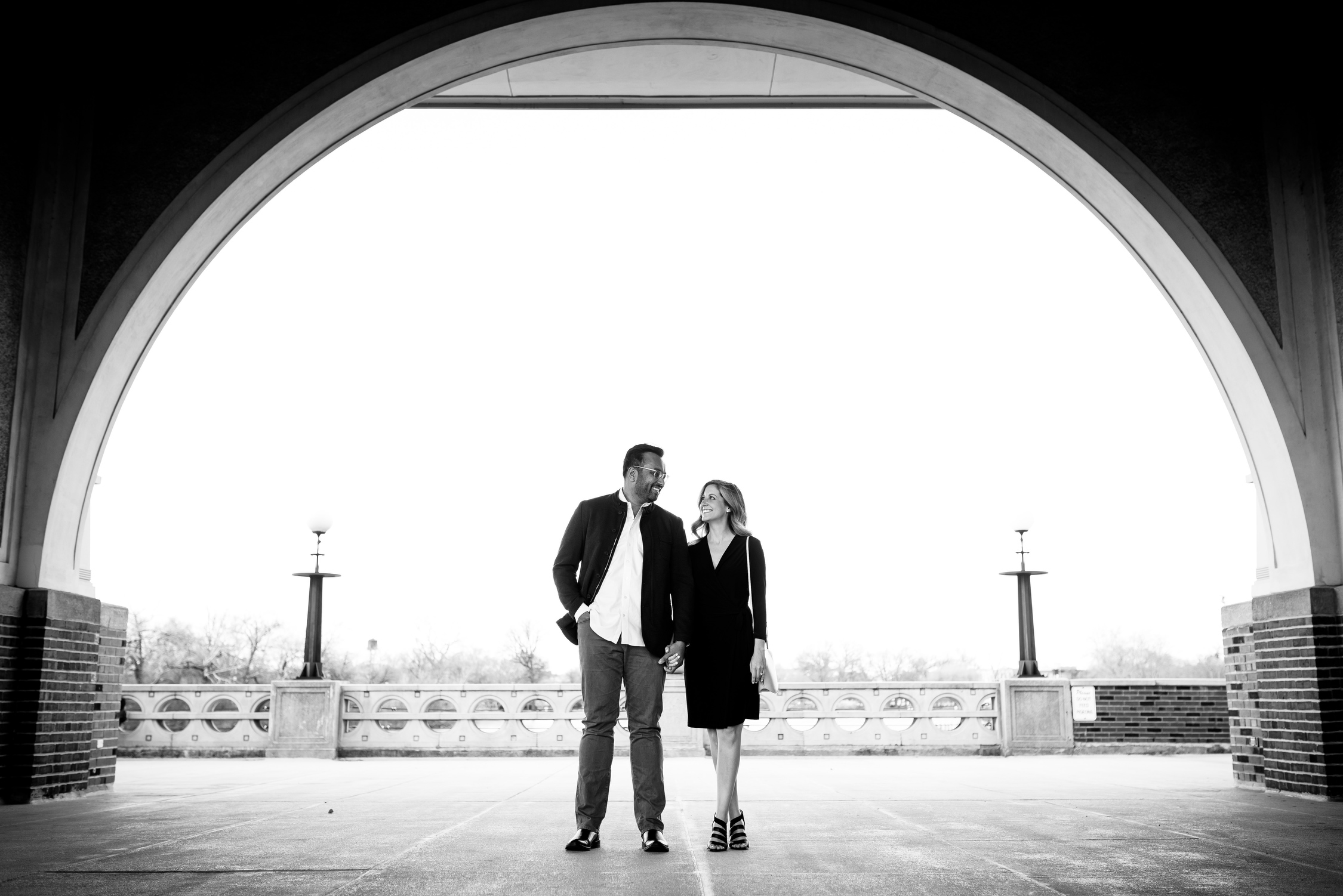 Chicago engagement session at the boathouse in Humboldt Park.