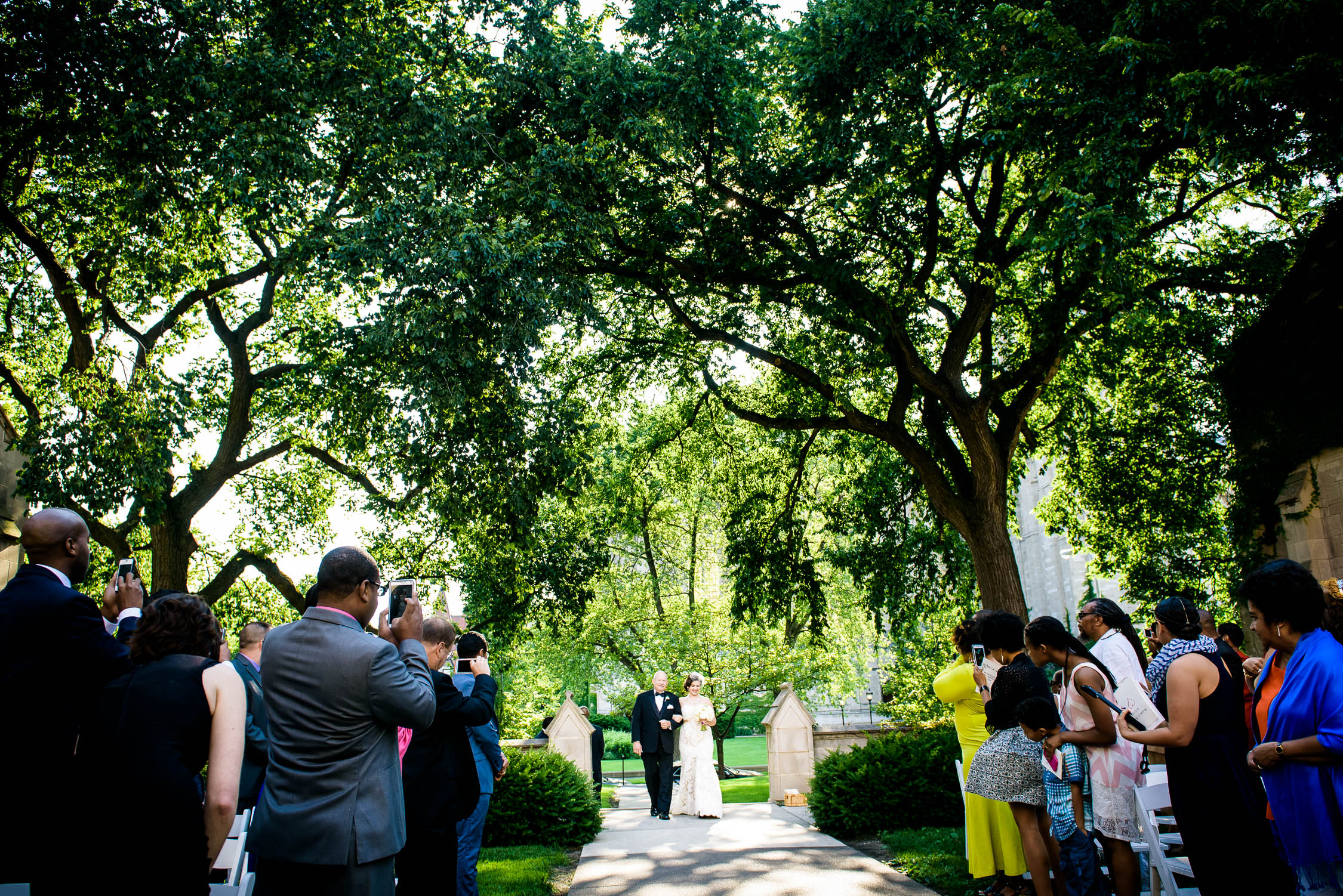 The University of Chicago makes for a beautiful ceremony space.