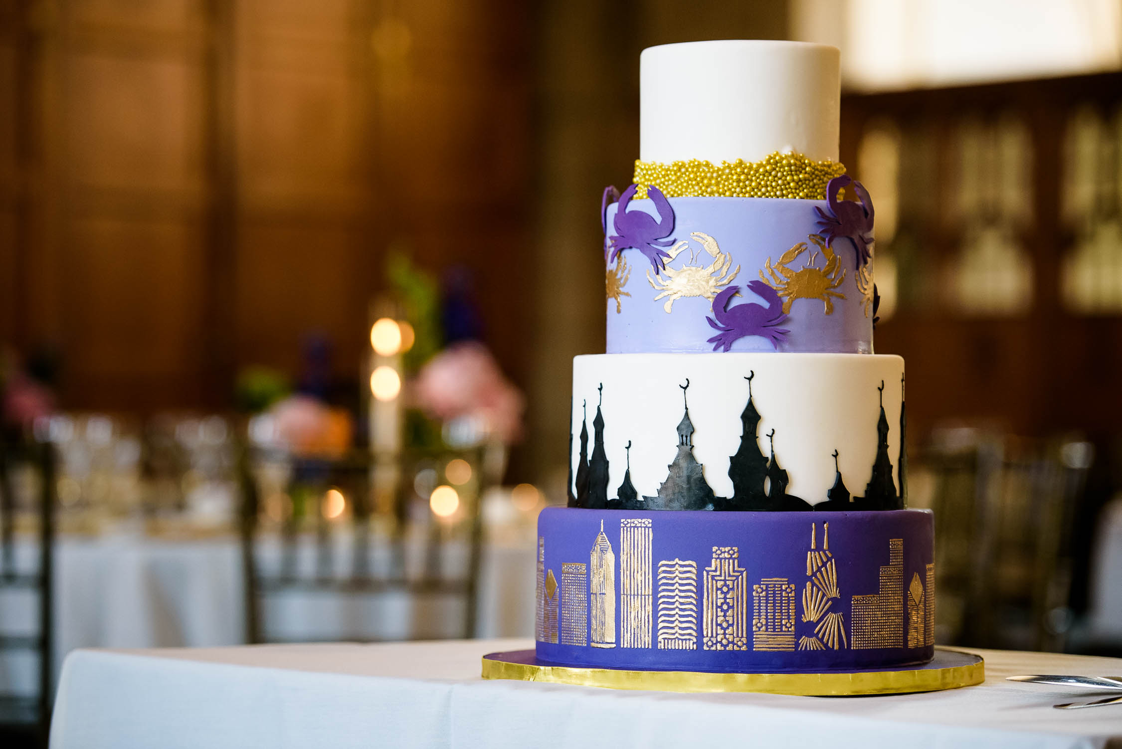 Cake made by Elysia Root Cakes at the Quadrangle Club of Chicago.