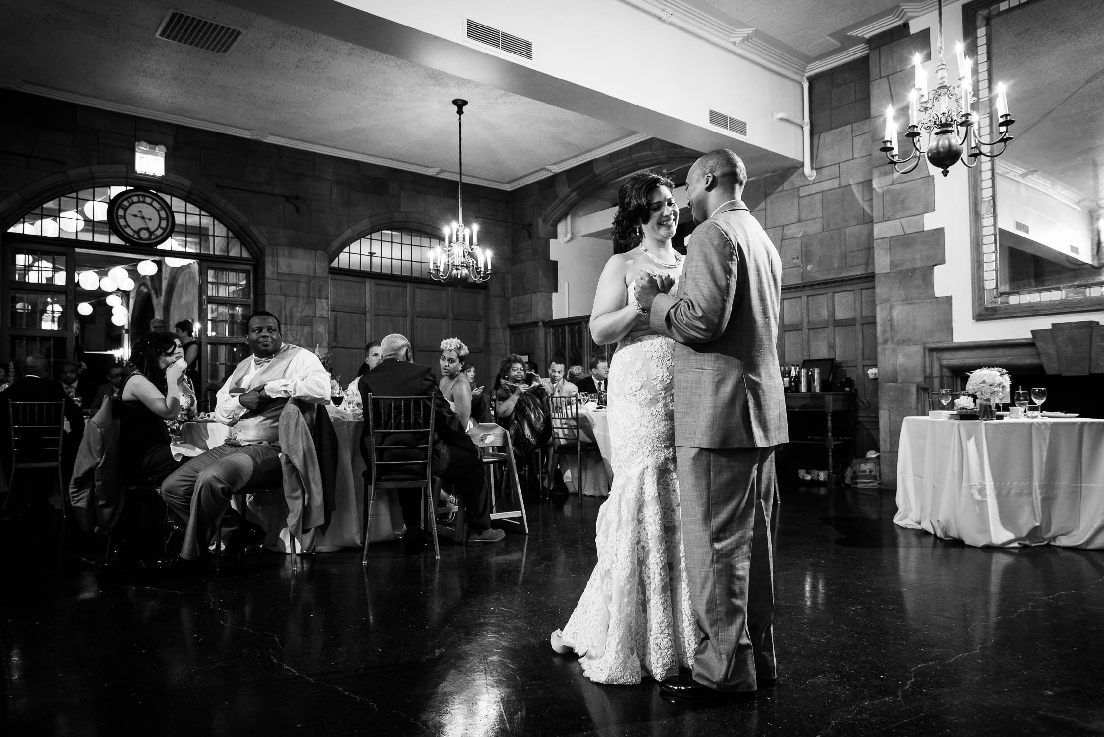 First dance during a wedding at the Quadrangle Club of Chicago.