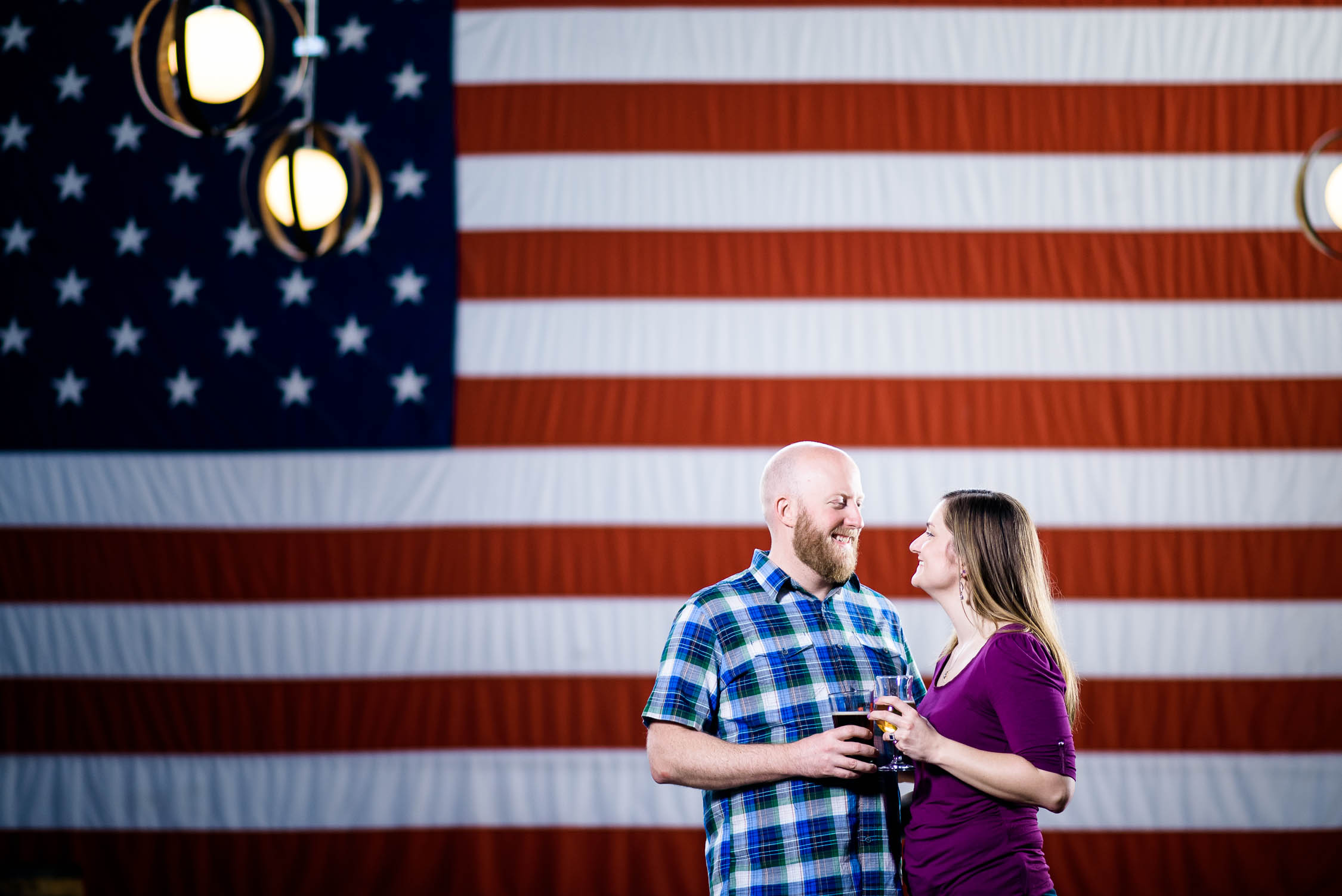 Chicago engagement session at Revolution Brewing.
