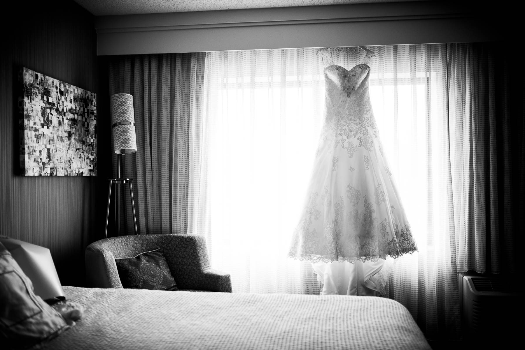 Wedding dress detail photo.