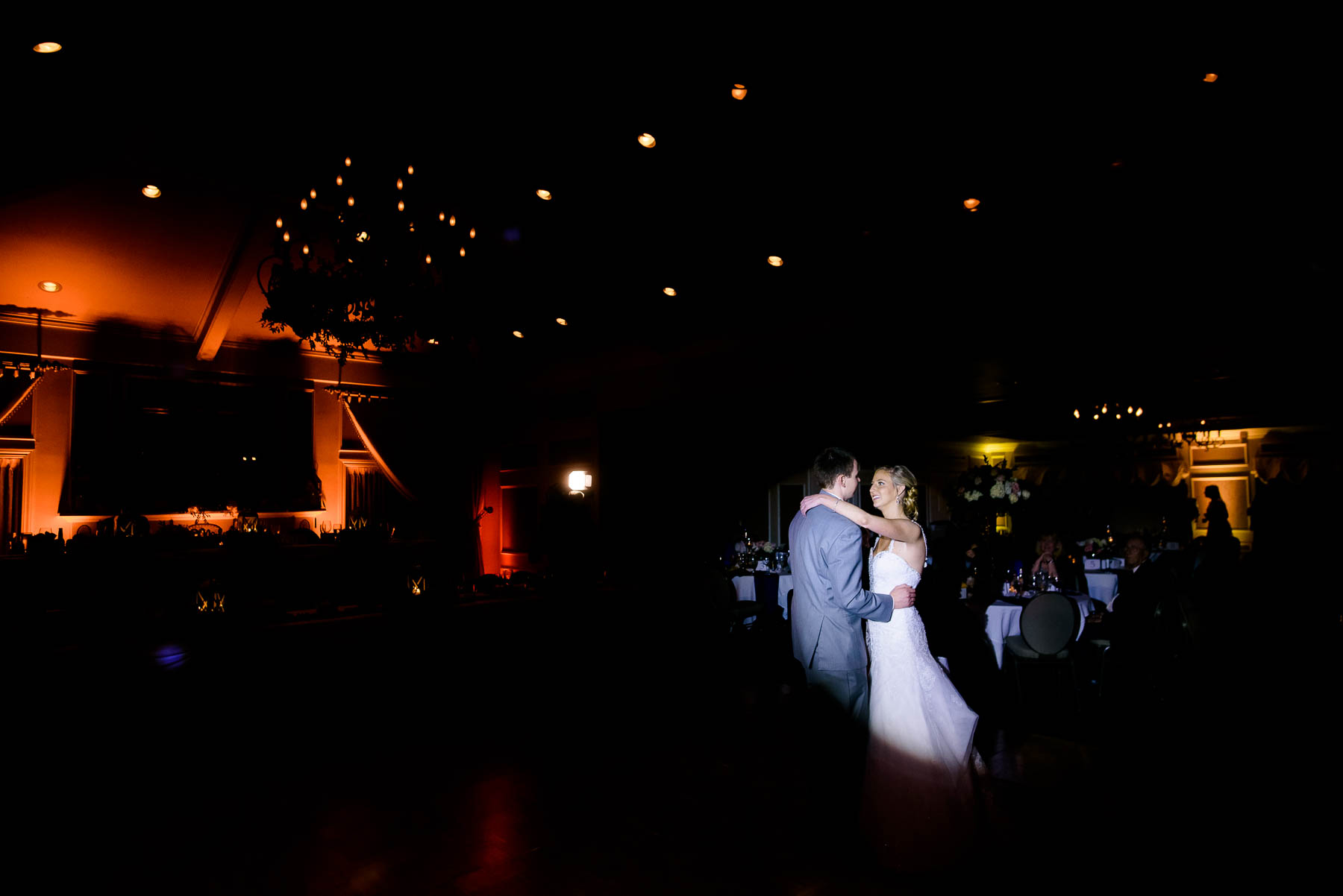 First dance during a St. Charles Country Club wedding.