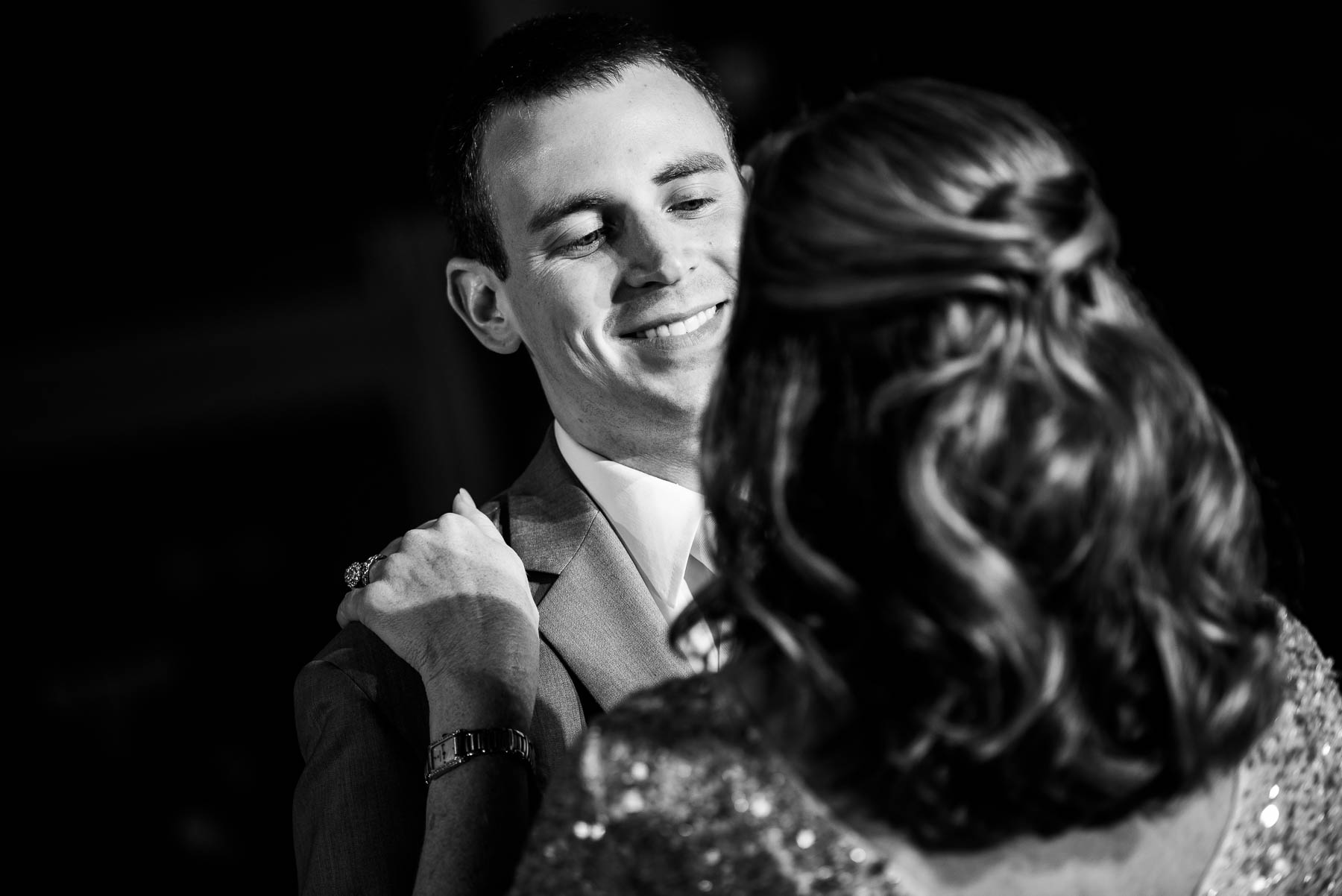 Mother son dance during a St. Charles Country Club wedding.
