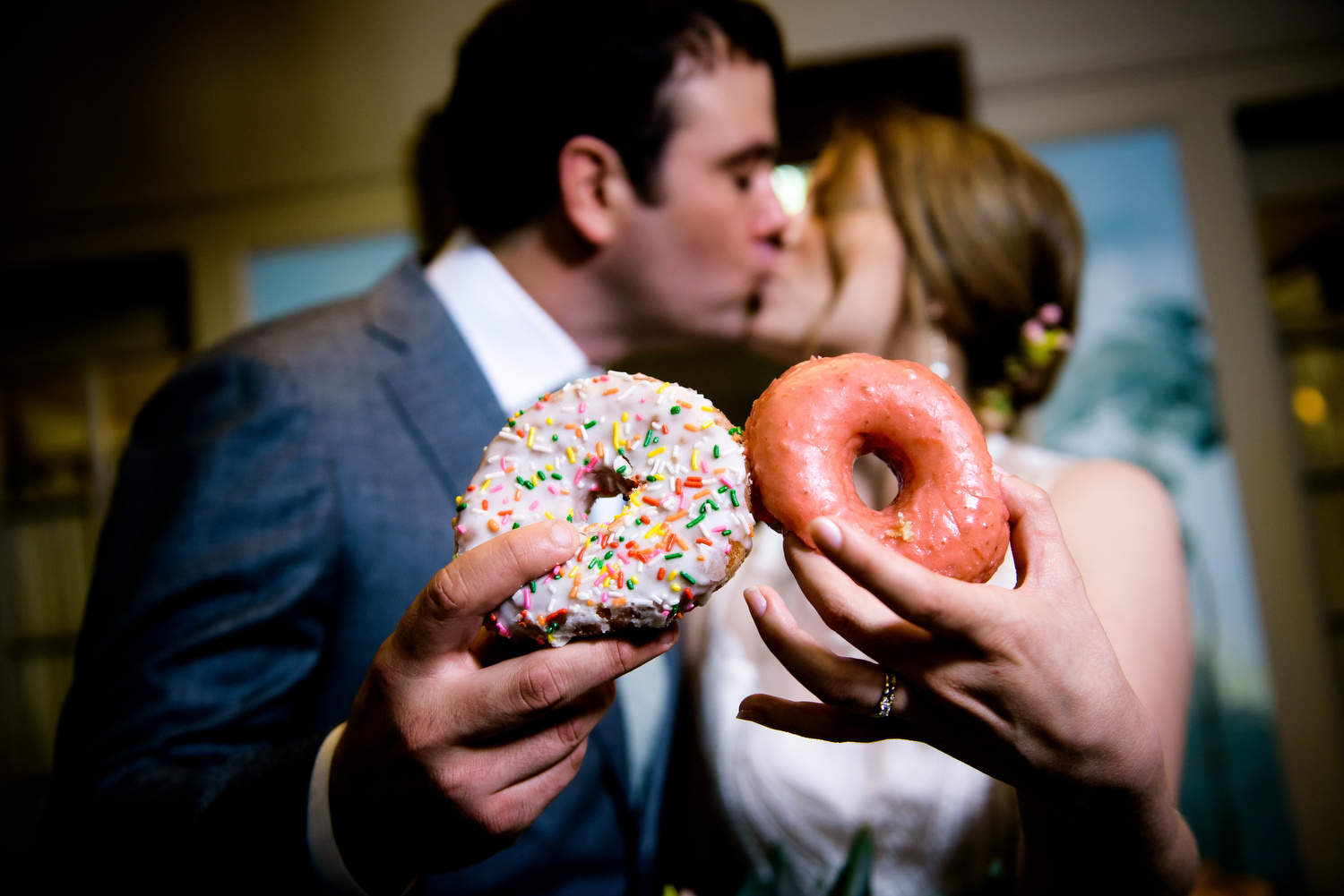 Stan's Donut at the reception during a Cheney Mansion wedding in Oak Park.