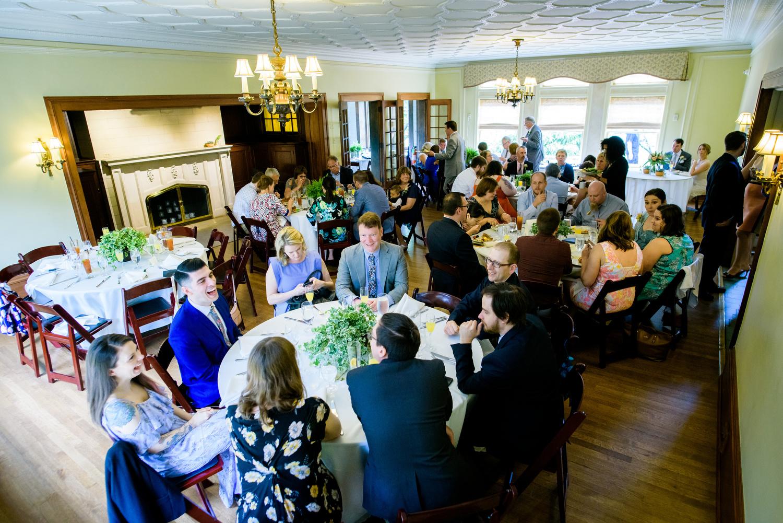 Reception during a Cheney Mansion wedding in Oak Park.