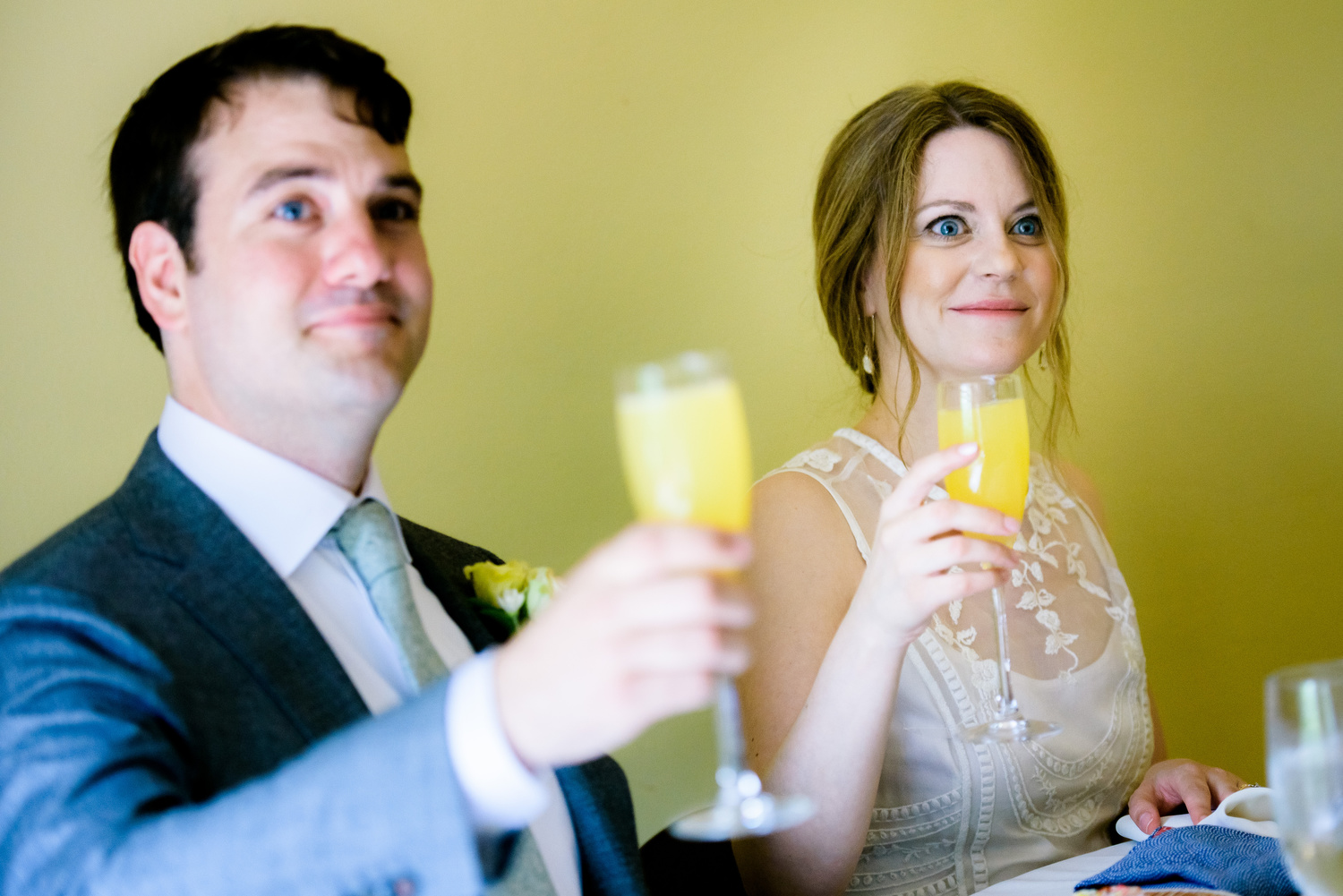 Father of the bride toast during a Cheney Mansion wedding in Oak Park.